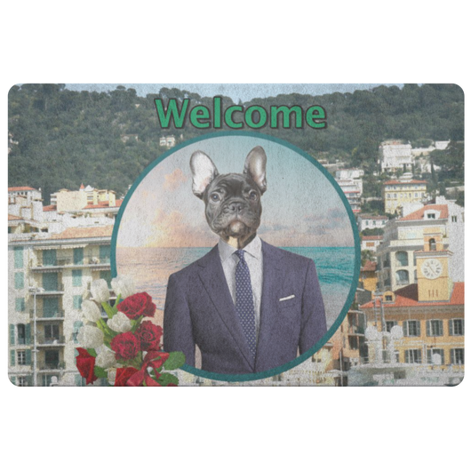 Rudy French Bulldog Doormat - The Green Gypsie