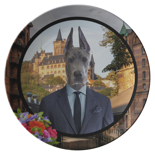 Frederick Great Dane Plate - The Green Gypsie