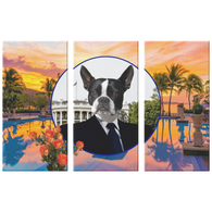 Buddy Boston Terrier 3 Canvas Set - The Green Gypsie