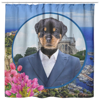 Randy Rottweiler Shower Curtain