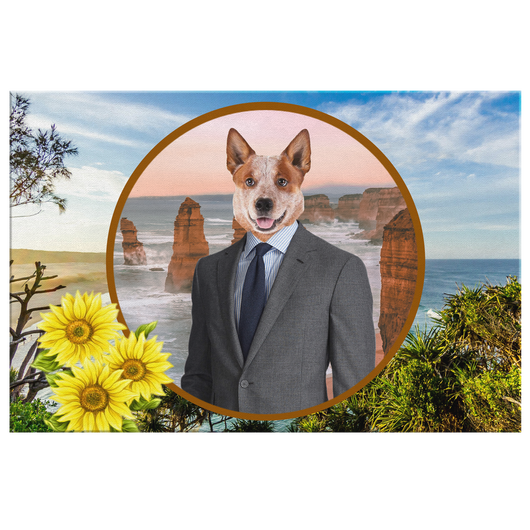 Harry Australian Cattle Dog Rectangle Canvas
