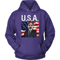 Gizmo German Shepherd USA Hoodie - The Green Gypsie