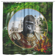 Albert Gorilla Shower Curtain - The Green Gypsie