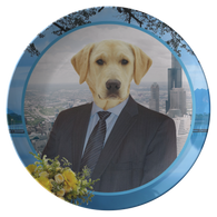 Louie Labrador Retriever Plate - The Green Gypsie