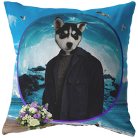 Niko Siberian Huskie Pillow - The Green Gypsie