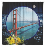 San Francisco Shower Curtain - The Green Gypsie