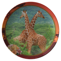 Lucy & Ricky Giraffe Plate - The Green Gypsie