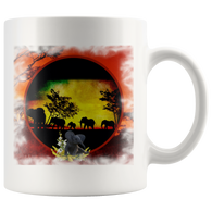 Elephant Sunset Mug - The Green Gypsie