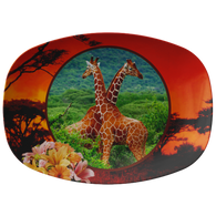 Lucy & Ricky Giraffe Platter - The Green Gypsie