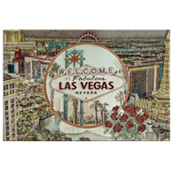 Las Vegas Rectangle Print Canvas - The Green Gypsie