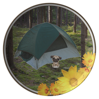 Peanut Camping Pug Plate - The Green Gypsie