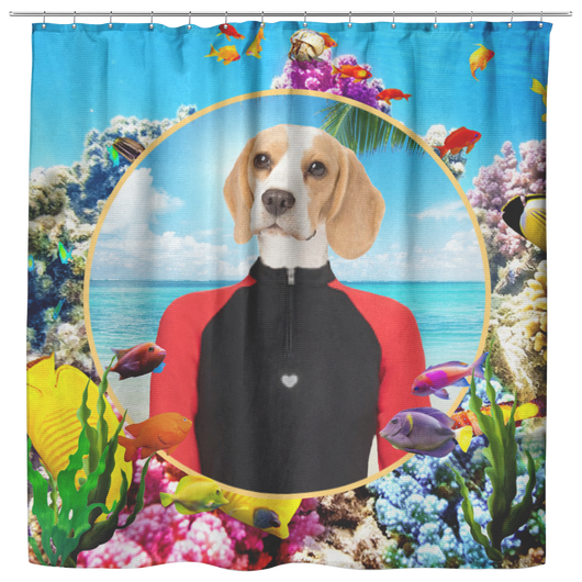 Bella Beagle Shower Curtain - The Green Gypsie