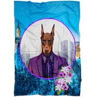 Prince Doberman Pincher Blanket - The Green Gypsie