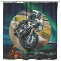 Motorcycle Shower Curtain - The Green Gypsie
