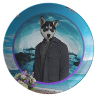 Niko Siberian Huskie Plate - The Green Gypsie