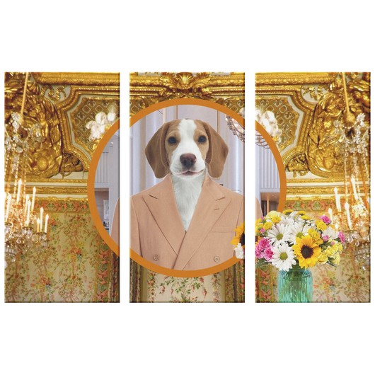 William Beagle 3 Canvas Set