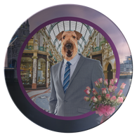 Bingley Airedale Terrier Plate - The Green Gypsie