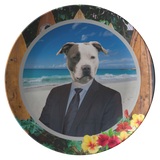 Peter Pit Bull Terrier Plate - The Green Gypsie