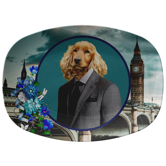 Sammy Cocker Spaniel Platter - The Green Gypsie