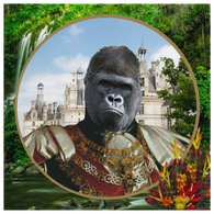 Albert Gorilla Square Canvas - The Green Gypsie