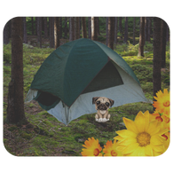 Peanut Camping Pug Mouse Pad - The Green Gypsie
