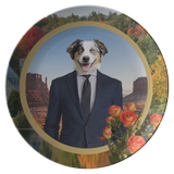 Aussie Australian Shepherd Plate - The Green Gypsie
