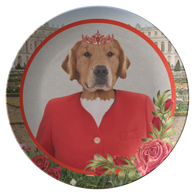 GiGi Golden Retriever Plate - The Green Gypsie