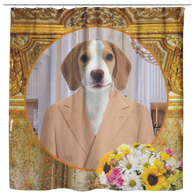 William Beagle Shower Curtain
