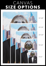 Logan The Sloth Long Rectangle Canvas - The Green Gypsie