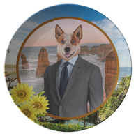 Harry Australian Cattle Dog Plate - The Green Gypsie