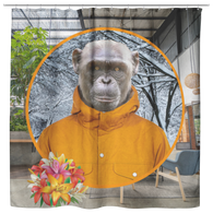 Chip Monkey Shower Curtain