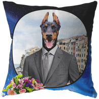 Cooper Doberman Pillow - The Green Gypsie
