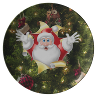 Santa Tree Plate - The Green Gypsie