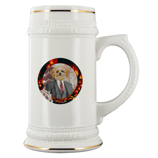 Ollie Shih Tzu Beer Stein - The Green Gypsie