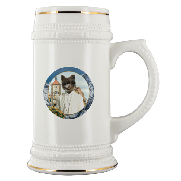 Cory Pomeranian Beer Stein - The Green Gypsie