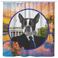 Buddy Boston Terrier Shower Curtain - The Green Gypsie