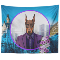 Prince Doberman Tapestry - The Green Gypsie