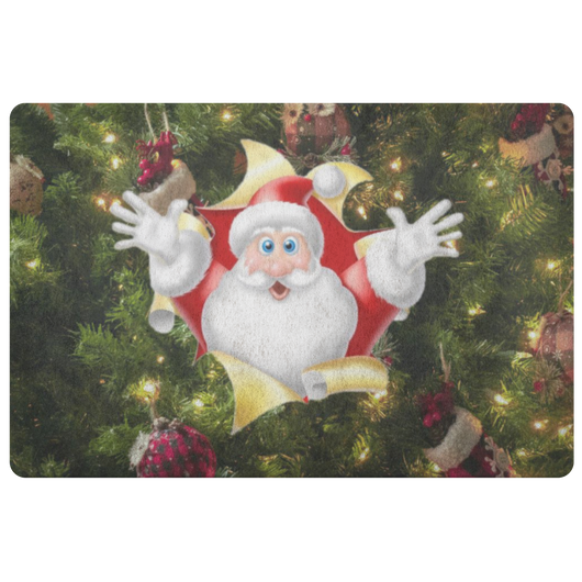 Santa Holiday Doormat - The Green Gypsie