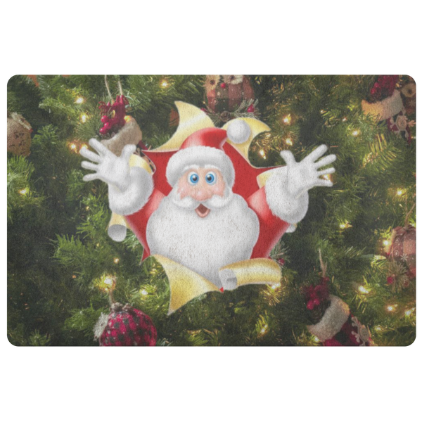 Santa Holiday Doormat