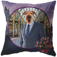 Bingley Airedale Terrier Pillow - The Green Gypsie