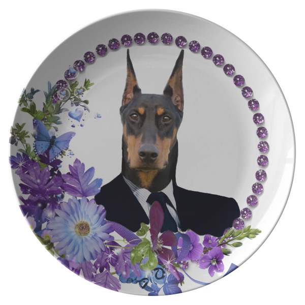 Duke Doberman Plate - The Green Gypsie