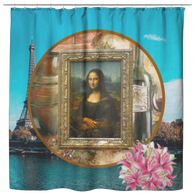 Mona Lisa Shower Curtain - The Green Gypsie