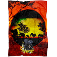 Elephant Sunset Blanket - The Green Gypsie