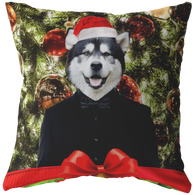 Apollo Alaskan Malamute Holiday Pillow - The Green Gypsie