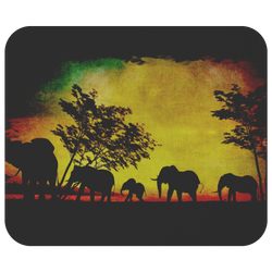 Elephant Sunset Mousepad