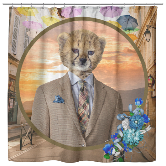 Chester Cheetah Shower Curtain - The Green Gypsie