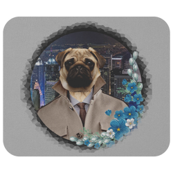 City Pug Mousepad