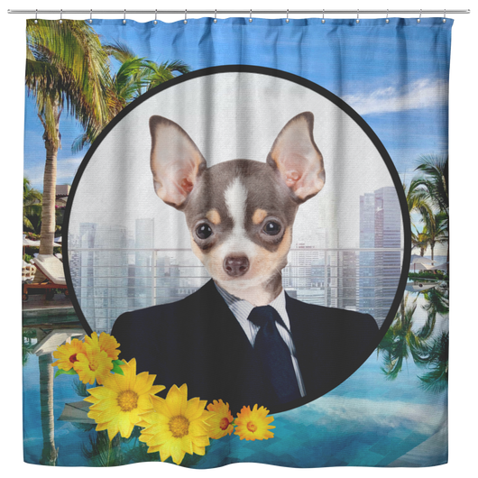 Coco Chihuahua Shower Curtain - The Green Gypsie