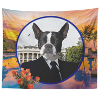 Buddy Boston Terrier Tapestry - The Green Gypsie
