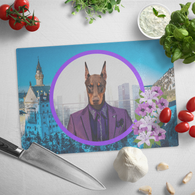 Prince Doberman Cutting Board - The Green Gypsie